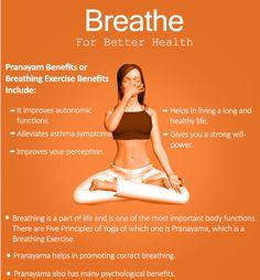 Benefits Of Pranayama Yoga Or Breathing Exercise & Its Different . Benefits of Pranayama or Breathing Exercise & Its Different yoga breathing exercises - Yoga Benefits Of Exercise, Health Benefits, Health Tips, Health And Wellness, Yoga Benefits, Yoga Breathing Exercises, Yoga Exercises, Yoga Breathing Techniques, Pilates