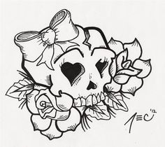 Girly Sugar Skull Coloring Pages - Bing Images