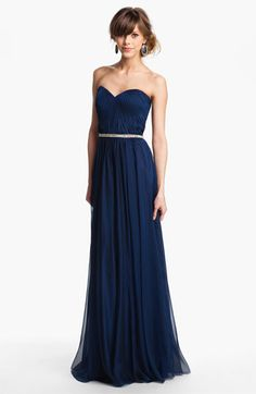 La Femme Embellished Chiffon Strapless Gown available at #Nordstrom