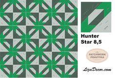 #patchwork #hunterstar #lemoynestar #tutorial #patchworkovévzory #lizadecor #pravítka #šablony