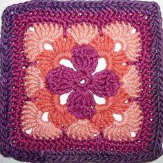 Sieht raffiniert aus, ist aber keine Hexerei. Der Blütencharakter dieses reizvollen Granny Squares kommt am besten mehrfarbig zur Geltung.Anleitungsumfang:2 Sei