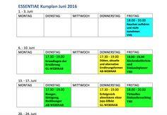 essentiae ernährungstraining kursplan Workshop, Helfer, Planer, Bar Chart, Periodic Table, Training, Shopping, Periotic Table, Coaching