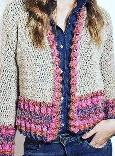Fabulous and Stylish Crochet Cardigan Patterns Ideas Part crochet cardigan pattern; crochet cardigan plus size; crochet cardigan with hood; Crochet Coat, Crochet Cardigan Pattern, Crochet Jacket, Crochet Clothes, Crochet Patterns, Shawl Patterns, Knitting Patterns, Bikinis Crochet, Big Knits