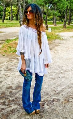 Bohemian style.... So 1960's.  While I wasn't quite a teenager yet in the late 60's I always loved this look... wore it well into the 70's with mocassin boots or shoes...  do you remember those?   ♥♥♥♥♥♥♥
