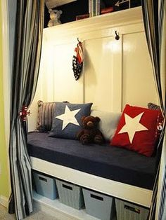 Closet turned bed or reading nook!