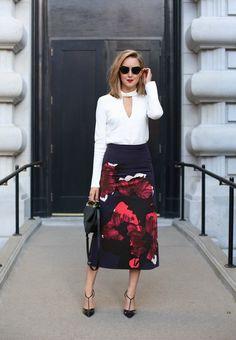 Floral Skirt, Choker Blouse | MEMORANDUM | Bloglovin'