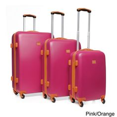 Anne Klein Fast Lane 3-piece Hardside Spinner Luggage Set | Overstock.com Shopping - Great Deals on Anne Klein Three-piece Sets