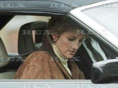 Princess Diana leaves Twickenham rugby stadium after meeting Will Carling, London, Britain 3 Mar 1995
