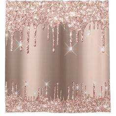 Rose Gold Glitter Wallpaper, Rose Gold Backgrounds, Pink Glitter Background, Gold Wallpaper Background, Glitter Rosa, Rose Gold Aesthetic, Rose Gold Theme, Custom Shower Curtains, Luxury Shower Curtain