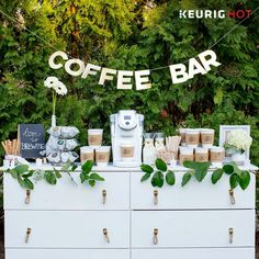 Coffee bar at a wedding!