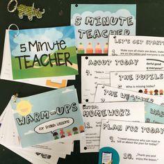 5 Minute Teacher / Förderung der Selbstständigkeit, Aktivierung und Erhöhung des individuellen Redeanteil im Englischunterricht