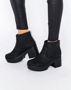 Image 1 ofASOS RAFF Chunky Ankle Boots
