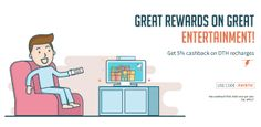 Freecharge- Get flat 5% cashback on DTH recharge (Max Rs 100 All Users)