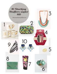 10 Stocking Stuffers Under $10 - for the ladies