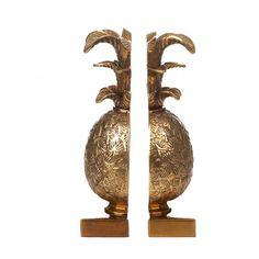 http://www.houseofhackney.com/house-of-hackney-pineapple-book-ends-brass.html #HOHSOS