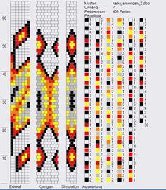 7 around tubular bead crochet rope pattern Bead Crochet Patterns, Bead Crochet Rope, Peyote Patterns, Beading Patterns, Beaded Crochet, Collar Redondo, Loom Bracelet Patterns, Crochet Beaded Bracelets, Native Beadwork
