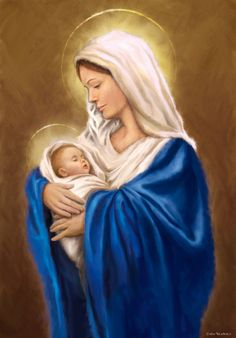 Jesus Mother, Blessed Mother Mary, Divine Mother, Blessed Virgin Mary, Baby Jesus, Mother Mary Images, Images Of Mary, Jesus Christ Images, Jesus Art
