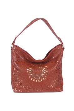 cb4e28391330 Laser Cut Claudia Hobo in Camel on Emma Stine Limited
