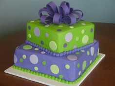 Polka Dots and Bows <3 Lime Green and Purple <3 Party Perfect!!!