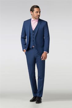 Without Prejudice Alexandra Navy Mohair Look Slim Fit Suit