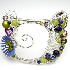 free Wire Cuff Bracelet Instructions | JustATish Designs: Free form free for all - wire wrap bracelet