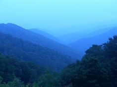 Great Smoky Mountains, Tennessee.  Remember seeing views like this when I was a kid.