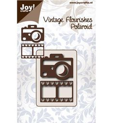 Joy Cutting Vintage Flourishes Polaroid camera + filmstrip hart