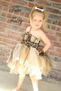 Cave girl tutu costume...I could totally make an adult version of this