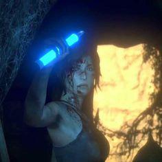 Lara Croft entering the Oasis