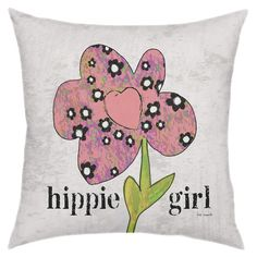 Showcasing a charming floral motif and typographic details, this chic pillow brings a pop of bohemian-inspired style to your sofa or favorite arm chair....