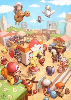 Pocket City by *Ry-Spirit on deviantART  I like how Dodou is flying with no wings...