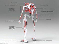 - Powered Exoskeleton Suit for Firefighter by Ken Chen - Yanko Design: Exoskeleton Suit, Powered Exoskeleton, Armor Concept, Concept Art, Transformers, Mechanical Design, Sci Fi, Yanko Design, Timeline Project
