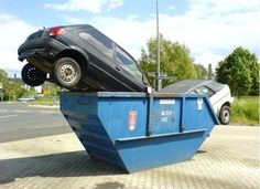 When cars go dumpster diving...