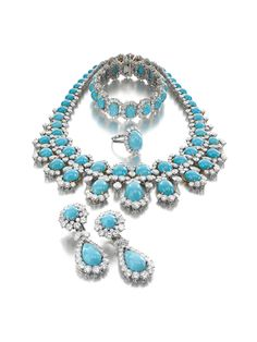 Turquoise and Diamond Suite by Bulgari, Rome, 1965