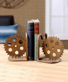 Look at this #zulilyfind! Gear Wheel Bookends #zulilyfinds