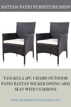 Materials: polyfiber, sponge, iron, PE rattan wicker Rattan Color: brown Size of each chair: 22.8″x24.8″x33.2″(LXWXH). Rattan Sofa, Wicker Chairs, Rattan Furniture, Sectional Patio Furniture, Patio Furniture Sets, Garden Lounge Chairs, Patio Chairs, Outdoor Chairs, Cushions