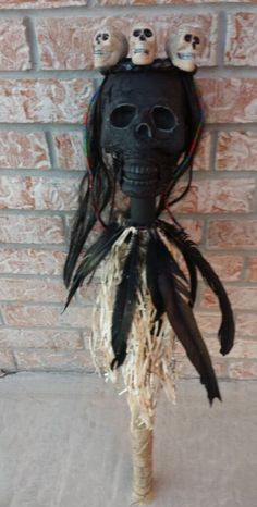 Voodoo Witch Doctor Septre Costume Accessory Halloween Haunted House Horror