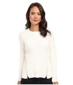 Calvin Klein Calvin Klein  Crew Neck w Side Zips Birch Womens Sweater for 49.99 at Im in!