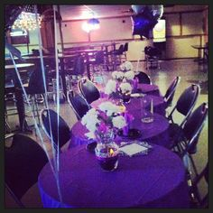 Purple silver an zebra stripes adult birthday party! Total cost for every thing including - Table Settings 40th Birthday Decorations, Birthday Party Centerpieces, Birthday Party Tables, Adult Birthday Party, Birthday Crafts, 50th Birthday, Birthday Ideas, Purple Birthday, Purple Party