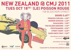 New Zealand @ CMJ 2011: Princess Chelsea. Andrew Keoghan. Pikachunes. The Golden Awesome. Popstrangers. Street Chant. Cairo Knife Fight.
