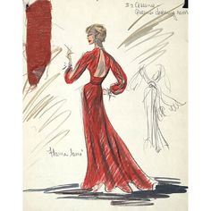 Edith Head's Sketches ❤ liked on Polyvore