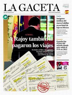 #España La portada de la gaceta de mañana. ¿Es el fin de Rajoy?