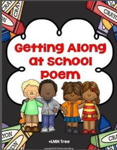 """LMN Tree: Promoting Positive Behavior with Dialogue Circles: Free """"Getting Along At School """" Poem and Writing Activities Teacher Freebies, Classroom Freebies, Classroom Behavior, School Classroom, Classroom Ideas, Classroom Management, Behavior Management, Teacher Tips, Class Management"""