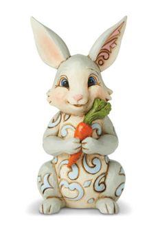 Figuren Tierfiguren Happy Easter Wishes Bunny With Eggs Heartwood Creek Jim Shore Enesco 4047676