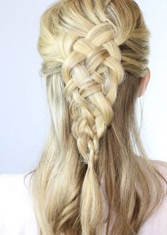 This intricate Celtic Dutch braid is totally worth your time.