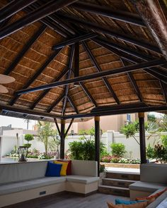 Don't let social distancing get you down. Turn your isolation situation into a relaxation destination. Contact your local Cape Reed office today!  #thatch #thatching #thatchers #thatchedroof #riet #rietdekker #timber #design #outdoor #outdoorliving #outdoorseating #exterior  #gazebo #residential #home #villa #homedesign #lifestyle #capereed #exclusiveliving