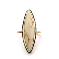 The Rellik willow ring - one of these fellas is soon to be going to a happy home #howlite #ring #rings #handmade #handmadejewelry #jewelry #fashion #accessories #stone #rellik #rellikjewelry
