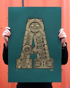 'A' the limited edition artwork by artist Fifty Seven. Available to buy online at Nelly Duff.