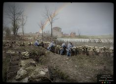 Here is a collection of incredible colorized photos showing everyday life of French soldiers from 1914-1918, during the First World War.