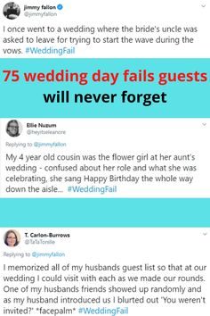 Wedding days are special moments meant to be shared with friends and family. They are also meant to be memories to look back on over the years. Unfortunately, in some cases, when we look back it's not on the picture-perfect moment we were hoping for. Here are 75 wedding fails that will be hard to forget.